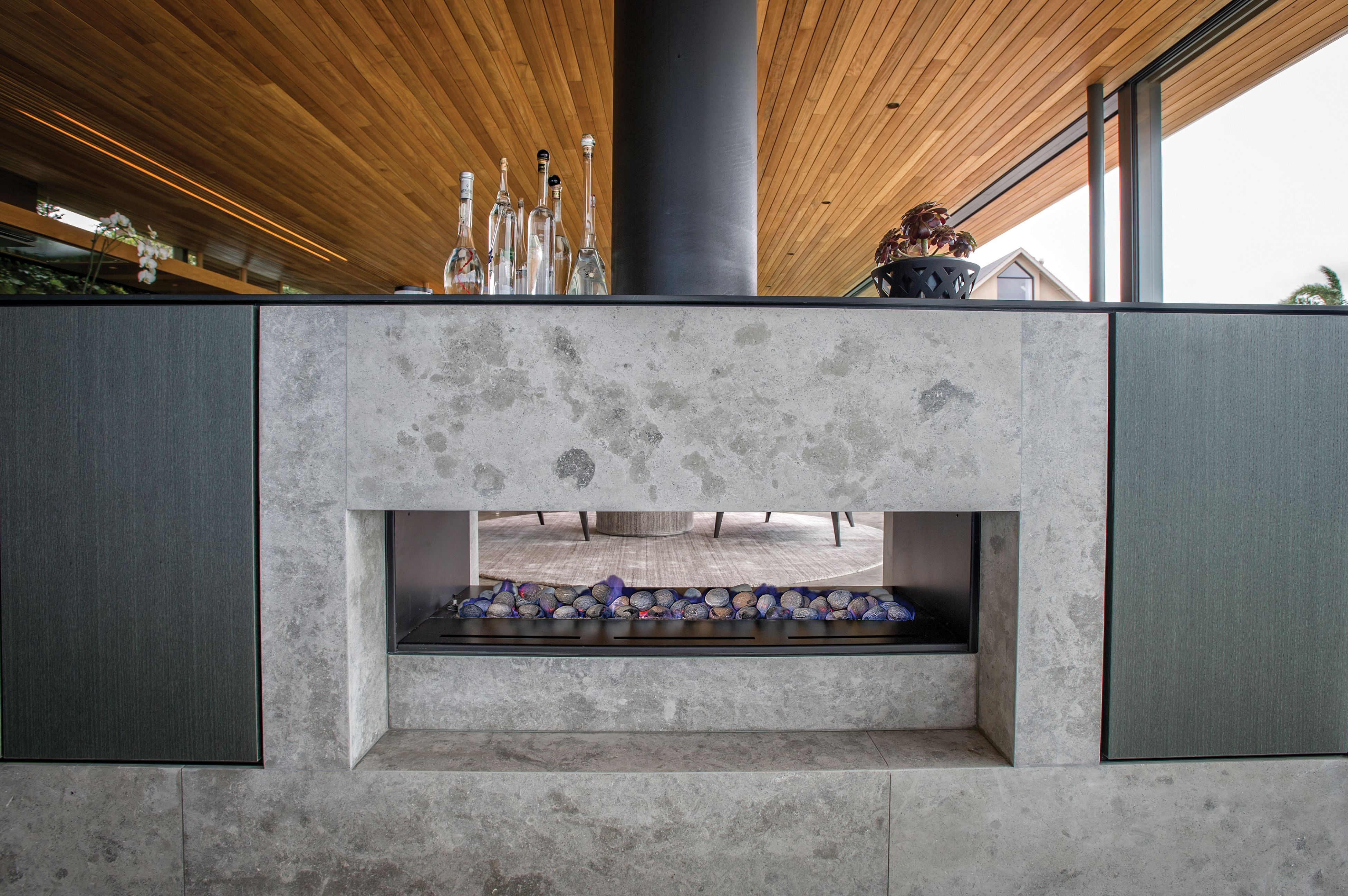 The Jetmaster Horizon Double Sided Open Gas Fire Gas