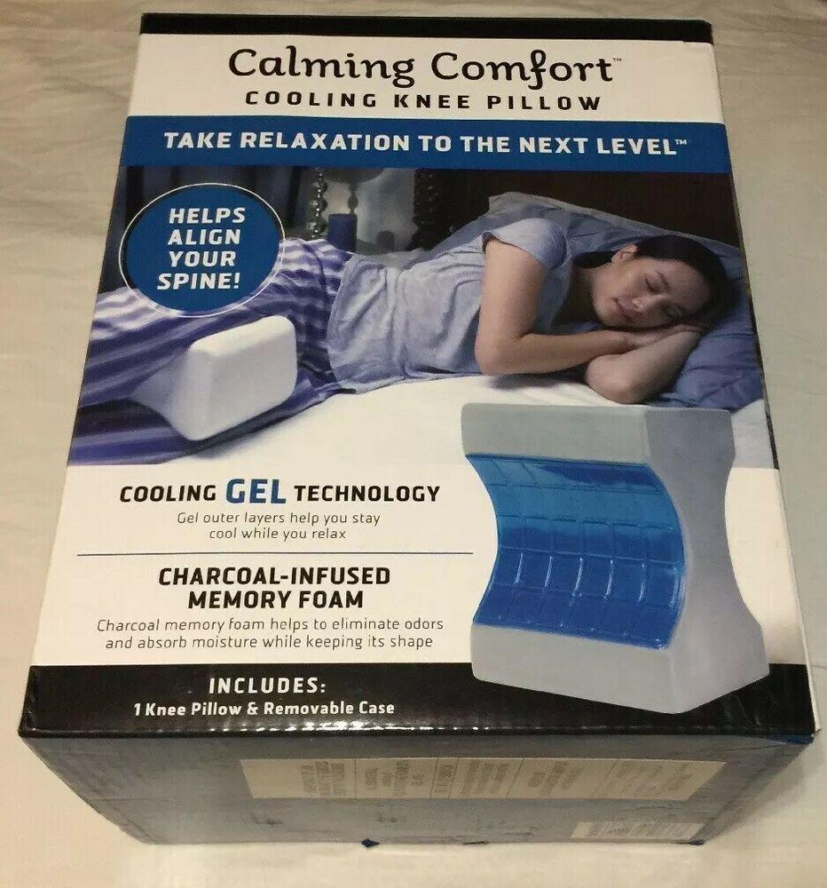 Calming Comfort Cooling Knee Pillow By Sharper Image Ebay Knee