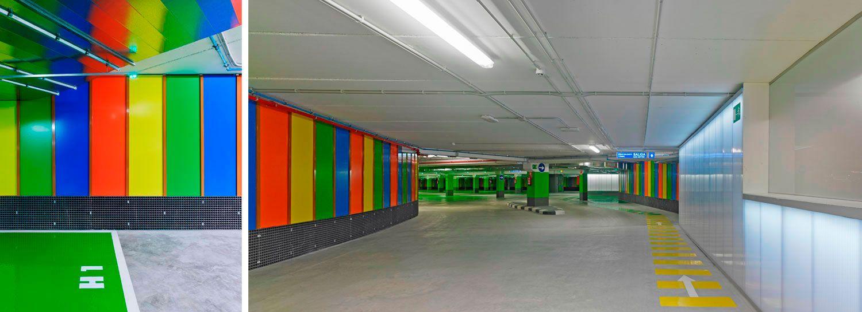 Díaz Y Díaz Arquitectos. Parking A Coruña Galicia. Interior Design  Architecture. Polycarbonate. Color.