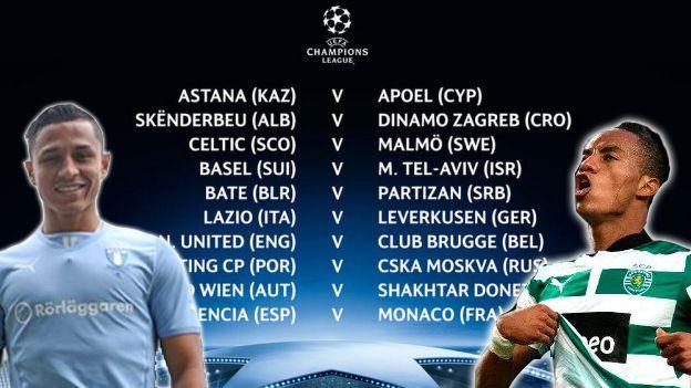 Champions League Estos Son Los Rivales De Los Peruanos En Los Playoffs Champions League Champions League Draw Uefa Champions League