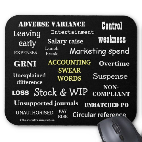 Accounting Swear Words Cruel Funny Accountant Gift Mouse Pad Zazzle Com Funny Accounting Quotes Accounting Funny Accountant