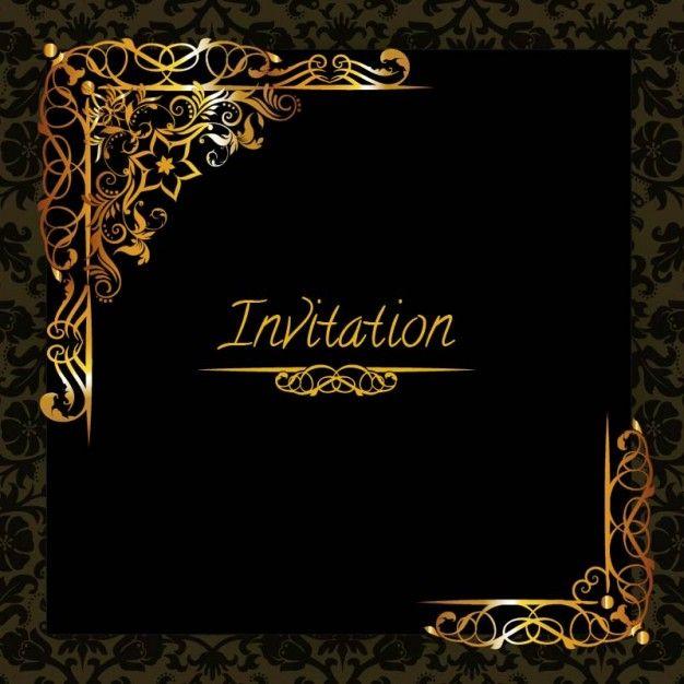 élégant modèle du0027invitation de conception du0027or Invitation - invite template free download
