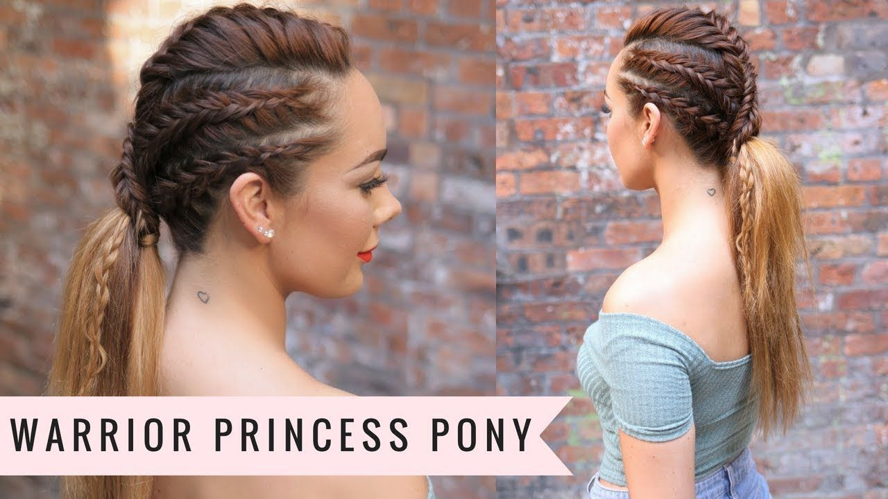 Warrior Princess Pony Lara Croft Inspired By Sweethearts Hair Youtube Hair Styles Braided Hairstyles Little Girl Hairstyles