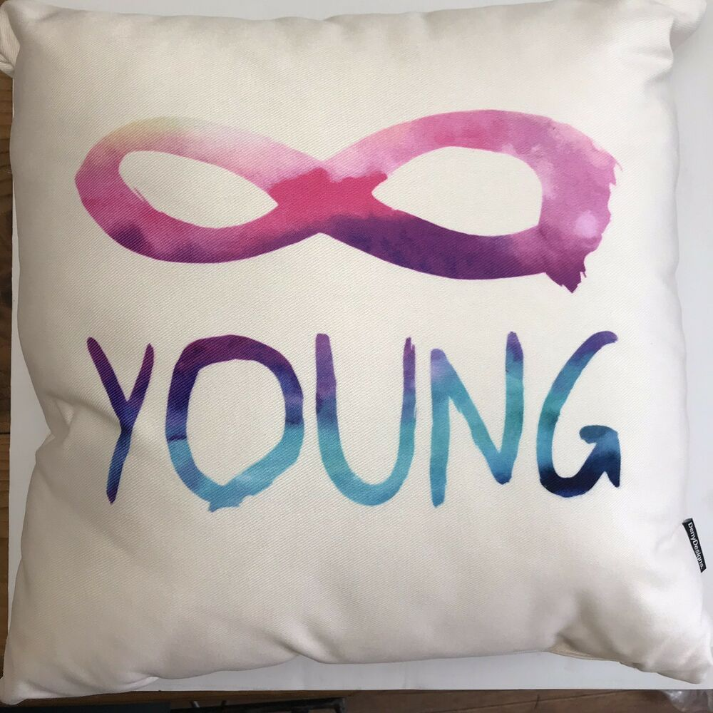 Deny Designs Forever Young Outdoor Throw Pillow Infinity Symbol 18 Square New Denydesigns Indooroutdoor декоративные подушки