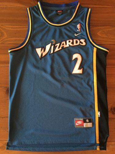 9b9f47b12e62 Vtg Rare God Shammgod Washington Wizards Jersey Nike Small Champion 40  please retweet Karl Malone