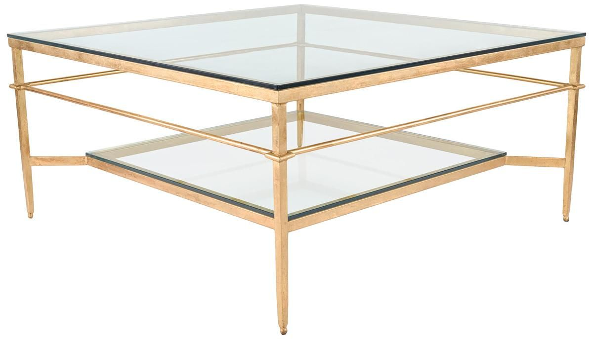 Contemporary Gilded Glass Coffee Table Safavieh Com Coffee Table Living Room Coffee Table Coffee Table Square [ 687 x 1200 Pixel ]