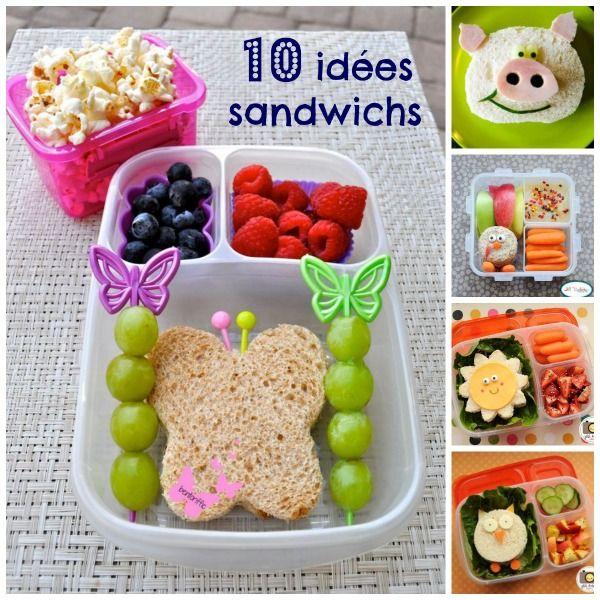 Dix id es sandwichs simples qui feront sourire vos - Boite a gouter maternelle ...