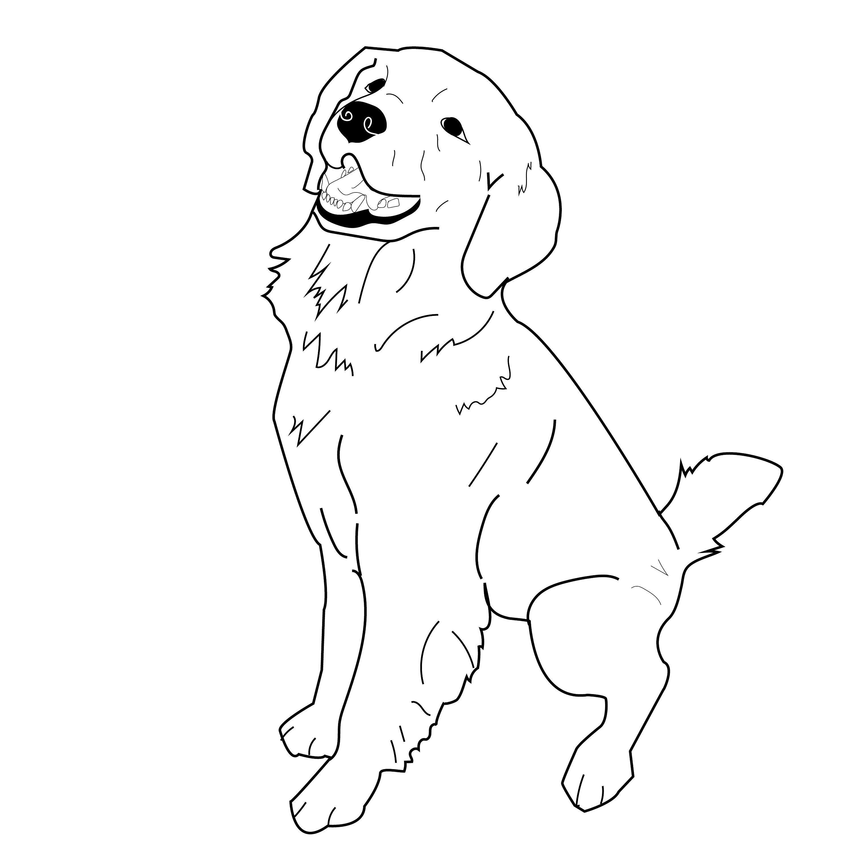 Sitting Golden Retriever Vector Dog Illustration Eps Cute Animal Png Downloadable Clip Art Svg Dog Drawing Simple Golden Retriever Drawing Golden Retriever Vector