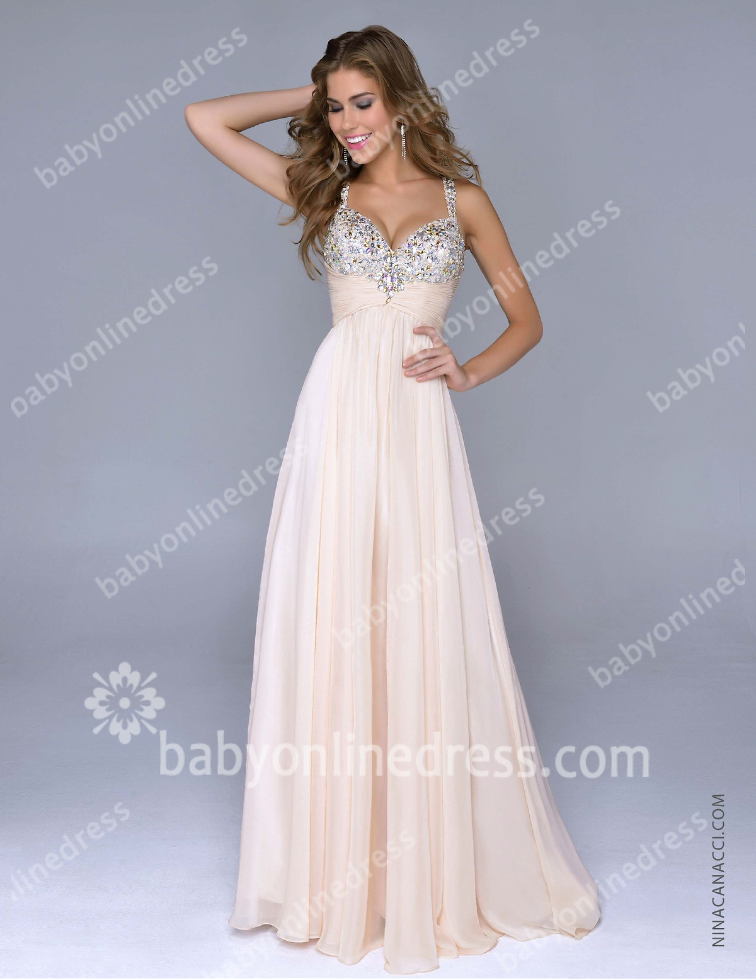 2015 Colourful Prom Dresses Sequins Crystal Zipper Spaghetti ...