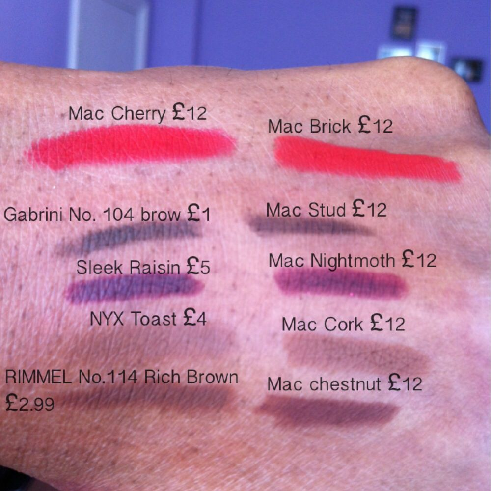 Mac Lipliner (and eyebrow liner) dupes.... (And to point ...