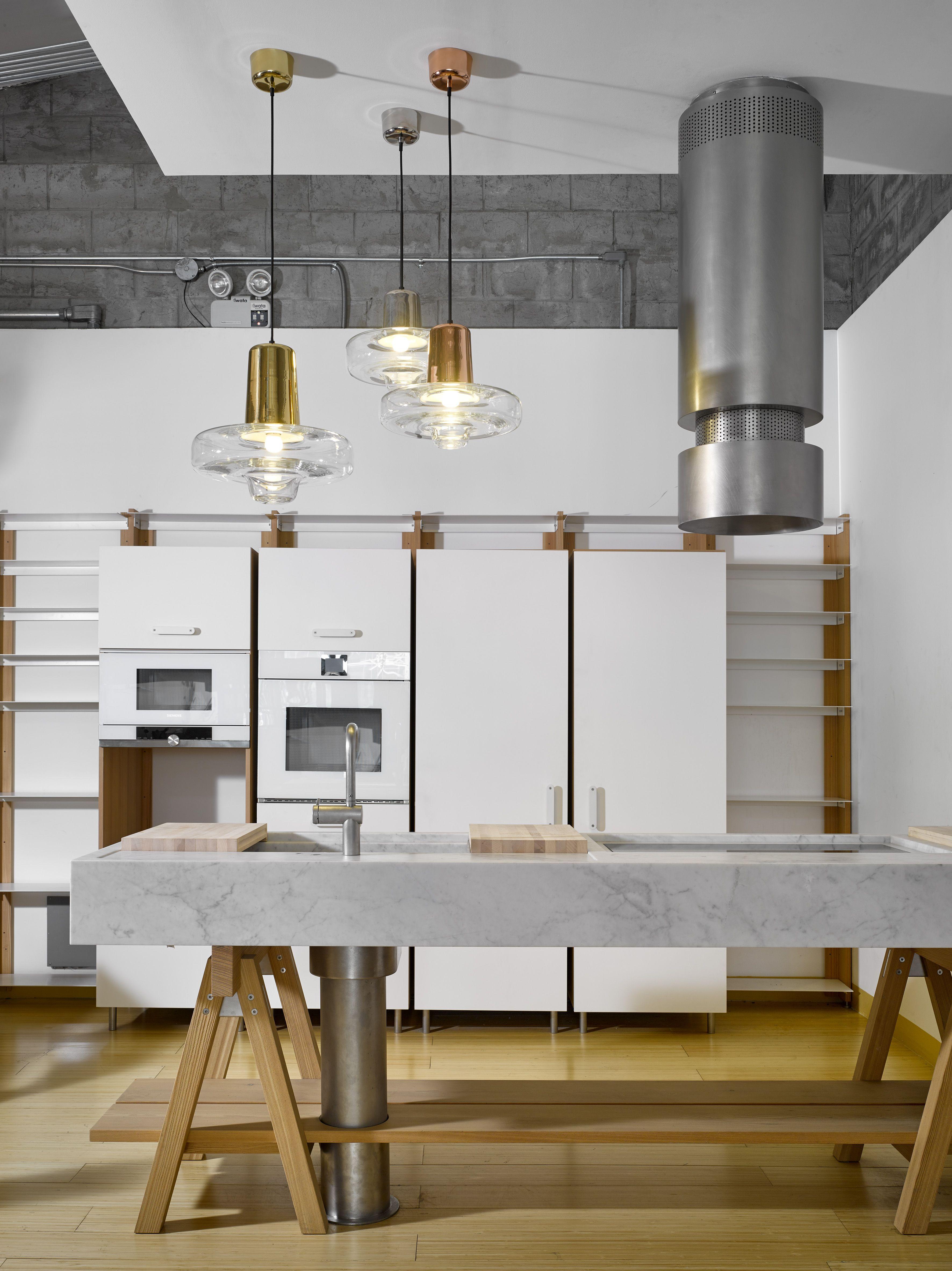 Spin Light Pendants By Lasvit Designed Lucie Koldov At CWC Interiors Showroom In Manila
