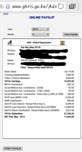 SHOCK: The police May 2015 payslip may have been used to loot ...