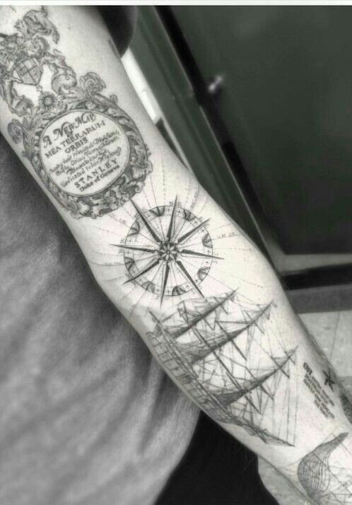 Pin By Hano On Tattoo4u Nautical Tattoo Nautical Tattoo