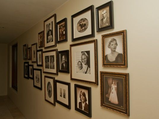 Hang Family Pictures In Hallway