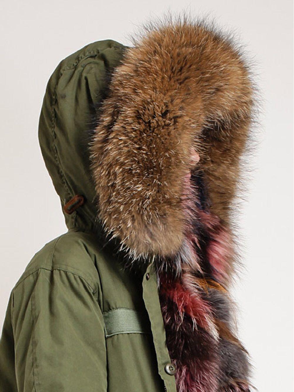 Parka Coat Coloured Fur
