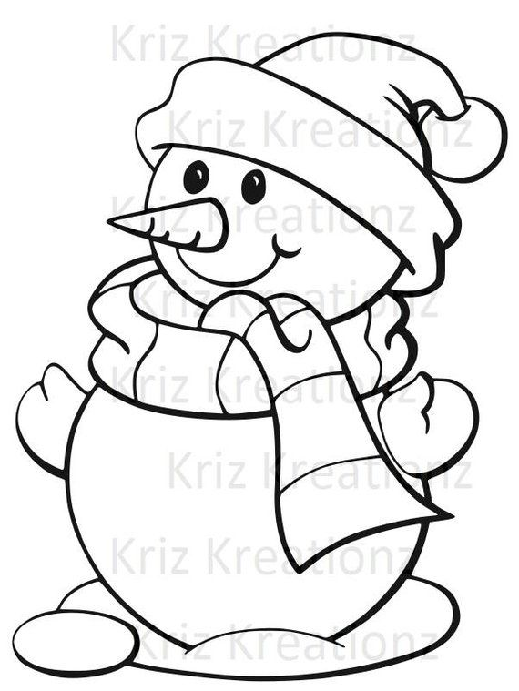 Snowman outline SVG Cut FIle is part of Christmas coloring sheets - Snowman Outline Cut file for Cricut or Silhouette  Please note these are SVG Cut File, if you use a Silhouette you need designer edition to up load these files