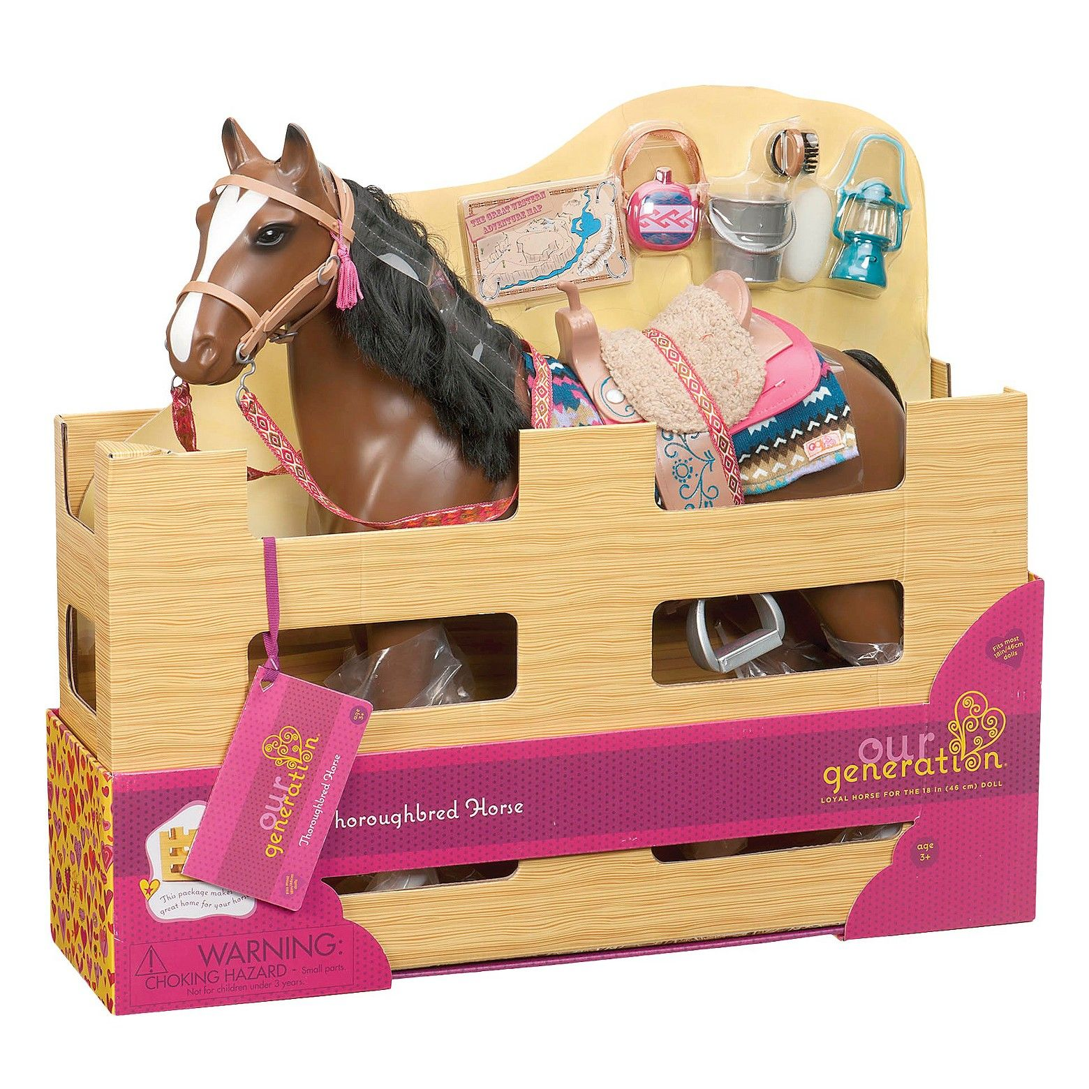 """18/"""" Doll Horse CARE SET Pony Foal for My Life as American Girl Boy Barn Stable"""