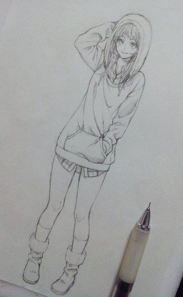 dessin manga crayon