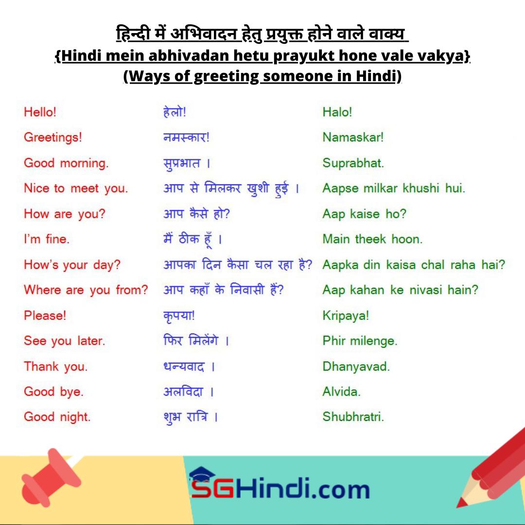 Phrases To Greet People In Hindi In 2021 Hindi Greetings Phrase [ 1080 x 1080 Pixel ]