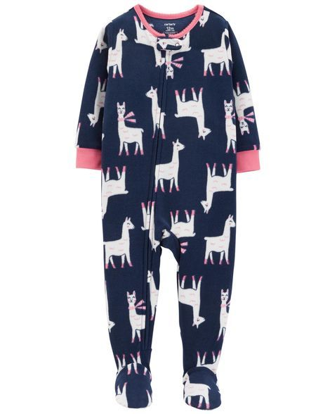 1-Piece Llama Fleece PJs from Carters.com. Shop clothing   accessories from  a trusted name in kids 413e878d2