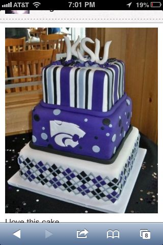 Ksu Wildcats Cakes Want This Cake Done For My Birthday Graduation Cakes Best Party Food Graduation Party