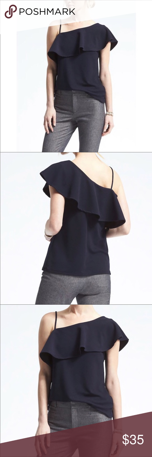 bb6f02f579f Banana Republic Crepe Off The Shoulder Top Banana Republic Crepe Off The  Shoulder Top Shirt has a beautiful off the shoulder design. With one strap  on the ...