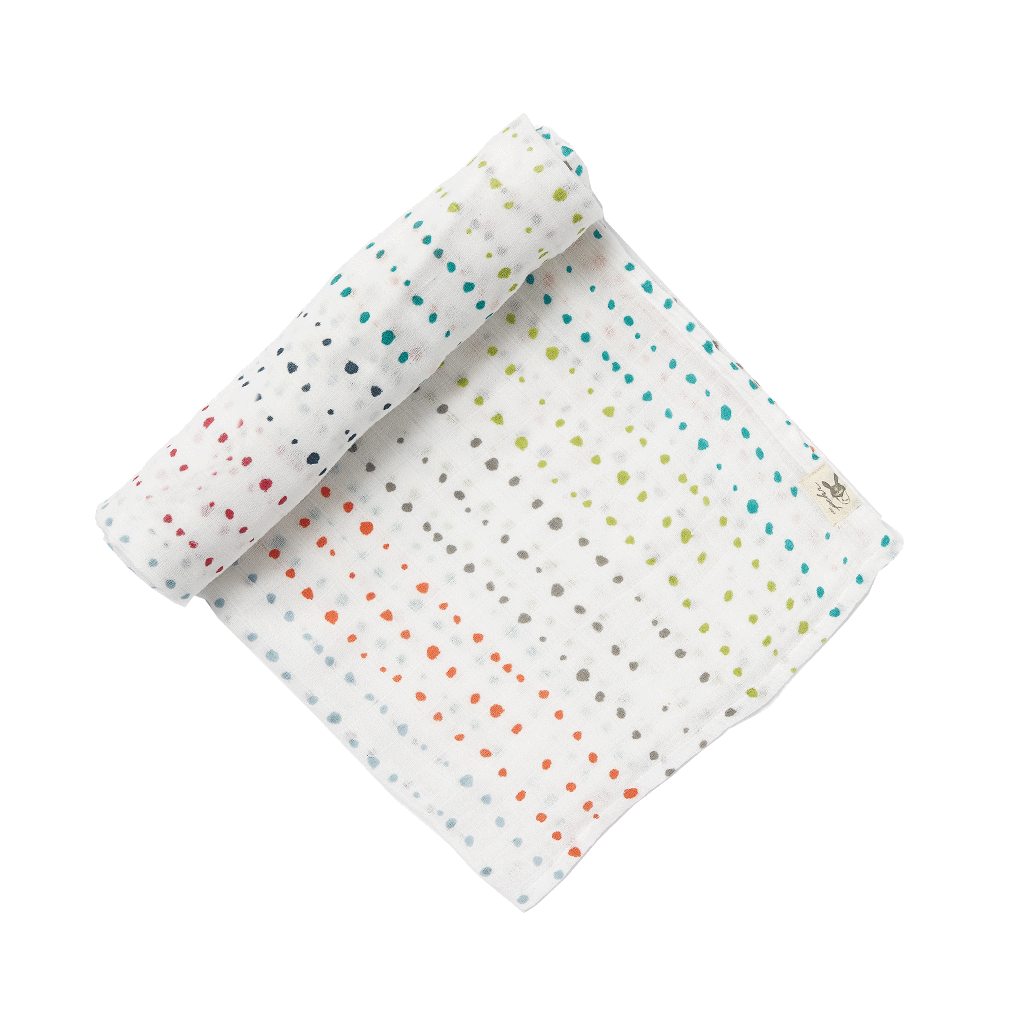 Swaddling And Receiving Blankets Painted Dots Swaddle Blanket  Babies Baby Bedding Sets And Baby