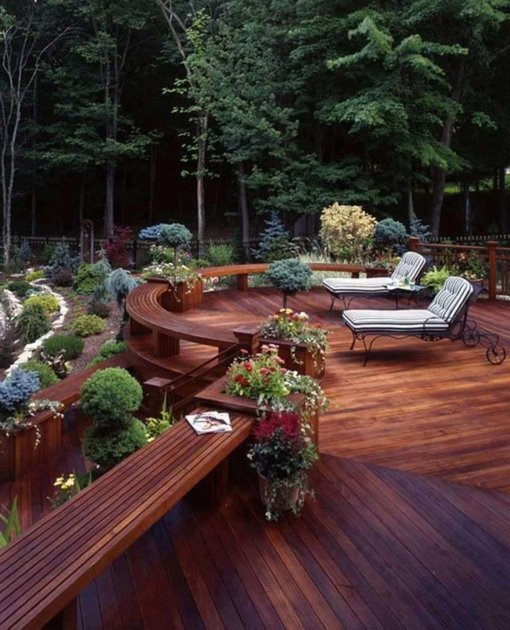30 outstanding backyard patio deck ideas to bring a for Images of garden decking