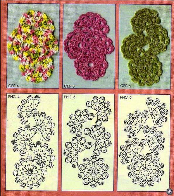 Crochet y dos agujas: 3 patrones de puntillas crochet | tejido ...
