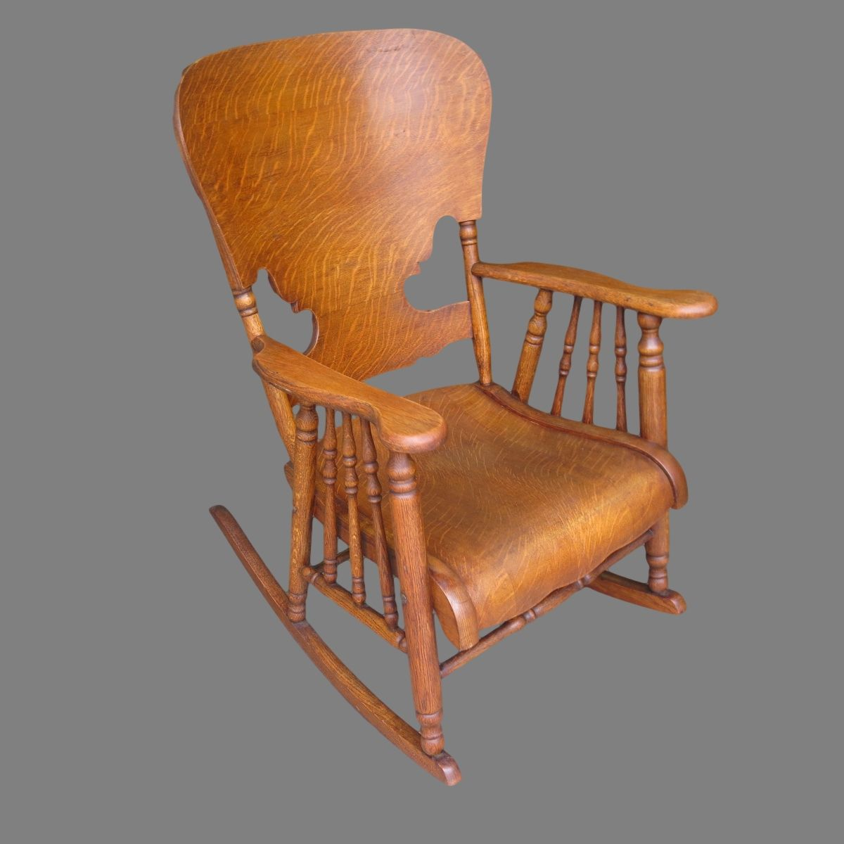 American Antique Press Back Rocking Chair Antique Furniture - American Antique Press Back Rocking Chair Antique Furniture