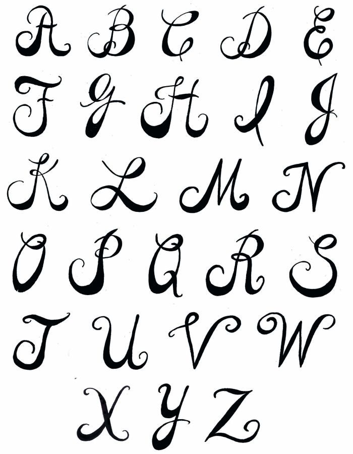 Creative hand lettering alphabets pamela 39 s parasols How to write calligraphy letters az