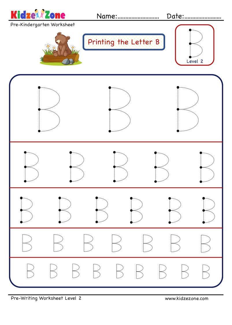 Letter B Worksheets Kindergarten Worksheet For Kindergarten In 2020 Letter B Worksheets Kindergarten Worksheets Kindergarten Worksheets Printable