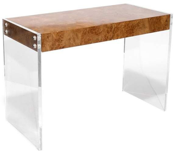 """I want this in my home office! (Or maybe in the entryway?) Jonathan Adler Lucite & Wood Desk """"Bond"""""""