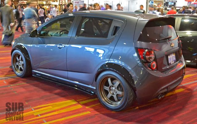 The Small Cars From The 2013 Sema Show Chevy Sonic Chevrolet Sonic Chevrolet Spark