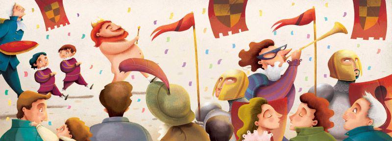 Alex Herrerias El Traje Nuevo Del Emperador Proyecto Quiero Santillana Children S Book Illustration Emperors New Clothes New Outfits