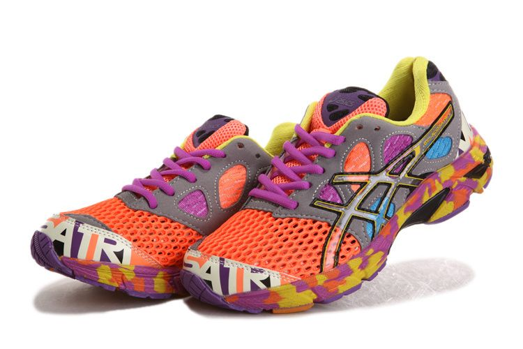 new product dfdf5 e0af5 ... pink yellow Asics Gel Noosa Tri 7 Womens Running Shoes Neon Orange Dark  Grey Purple Yellow Asics Gel ...