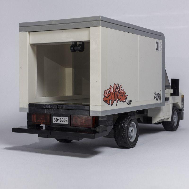 Ford E Cutaway Boxtruck Rear Lego Cars Lego Truck Lego Camper