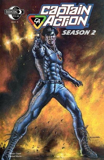 Captain Action Season 2 #1  Moonstone Comics    Dynamic Mark Texeira cover!