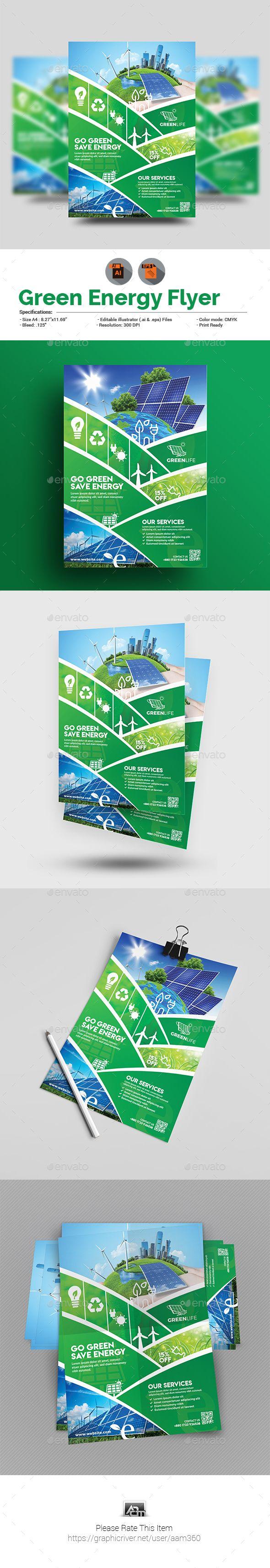 Green Flyer Template   Green Energy Flyer Template Impreso