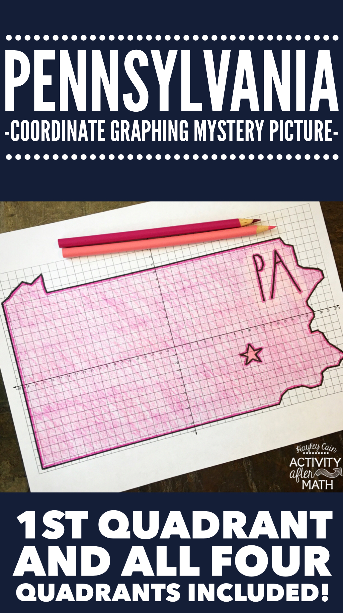 Pennsylvania Coordinate Graphing Picture 1st Quadrant