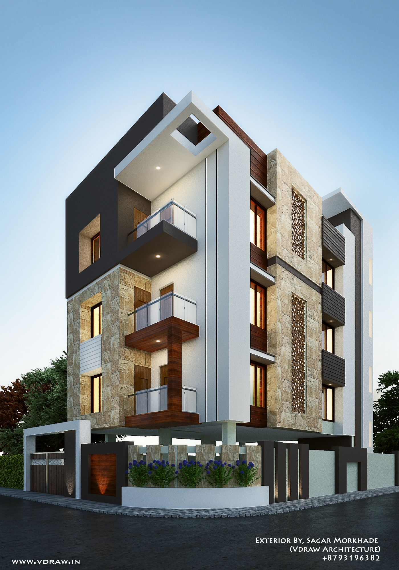 Exterior Sagar Morkhade Vdraw Architecture