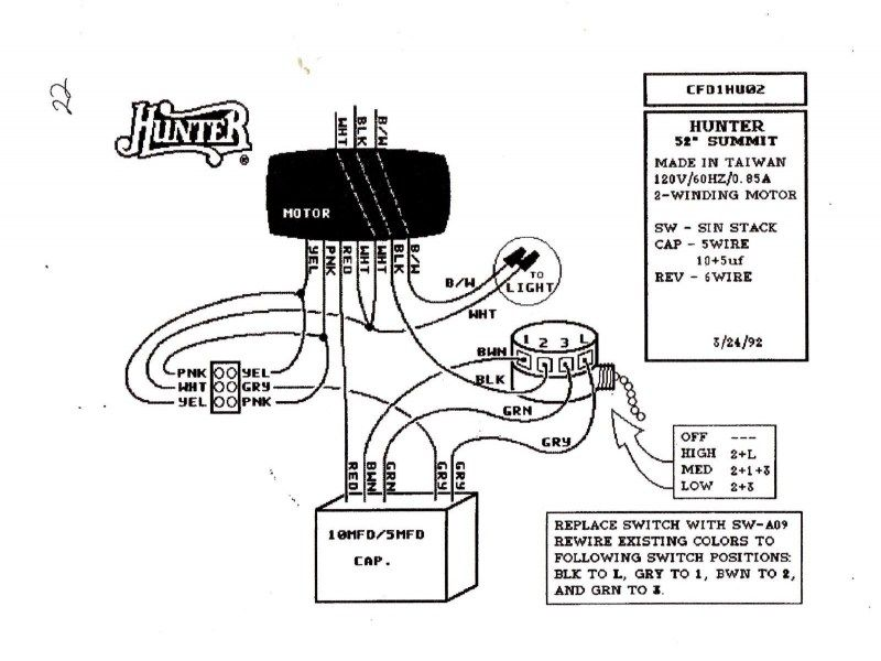 ceiling fan capacitor wiring