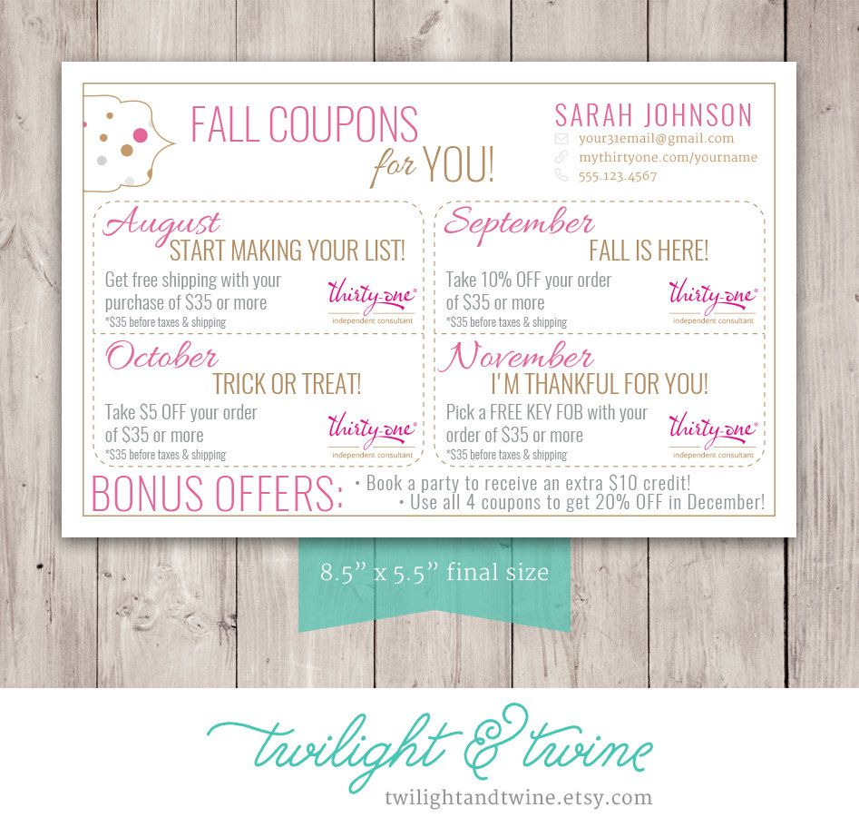 Thirty one coupon sheets custom pdf printable thirty one 31 pure romance alramifo Image collections
