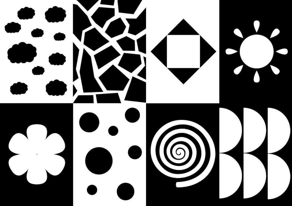 вот читая черно белые картинки для развития зрения малыша эти животные известны