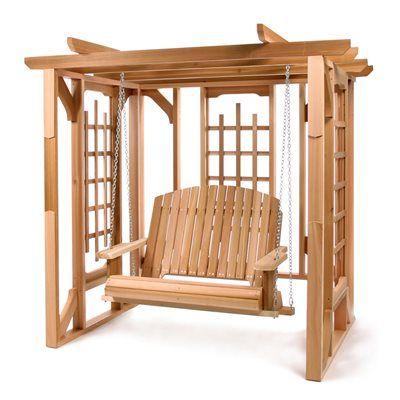 All Things Cedar Patio Swing Po72 S Pergola Set