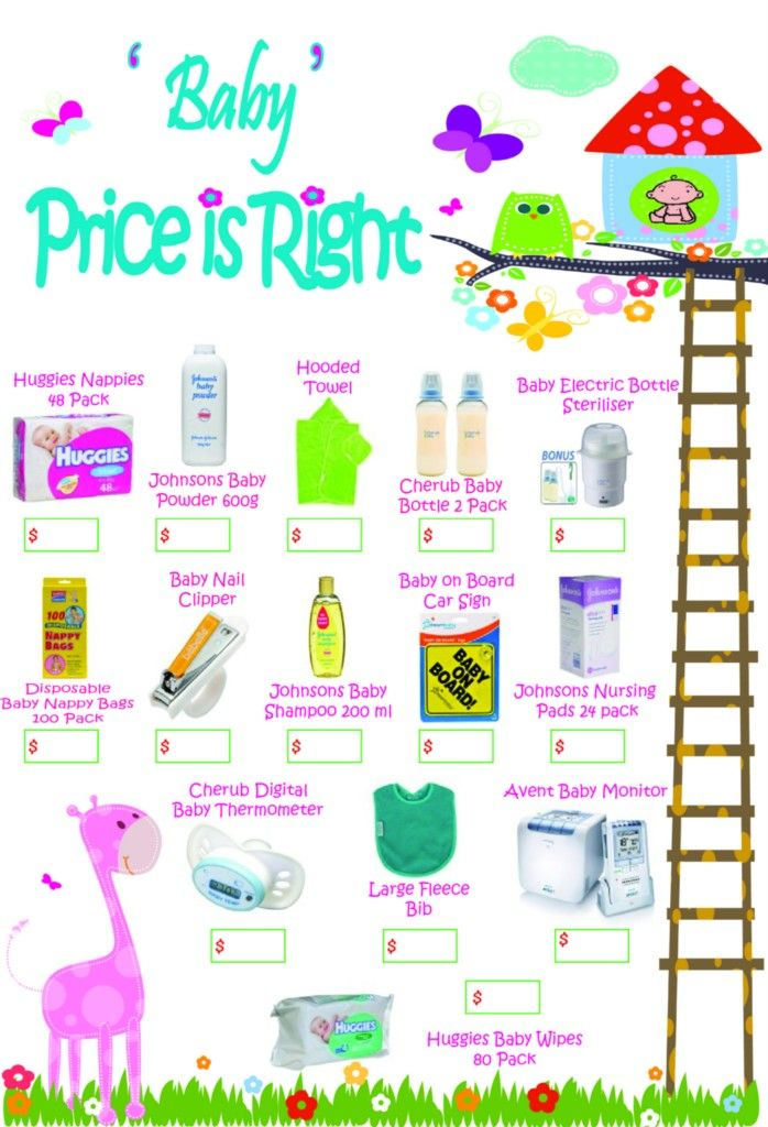 Wonderful Price Is Right Baby Shower Game     Use Baby Items That Lindsay Will Use