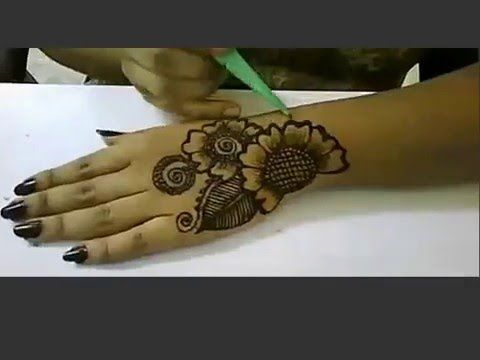 Arabic Mehndi Step By Step : Arabic henna floral designs for hands step by tattoos
