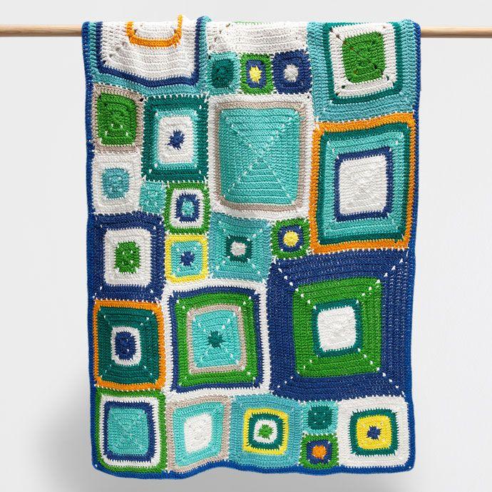 Manta algod n crochet multicolor mantas cama zara for Zara home mantas