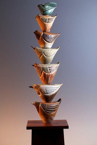 Ceramic Totem Poles Totem Pole Pottery Sculpture Totem
