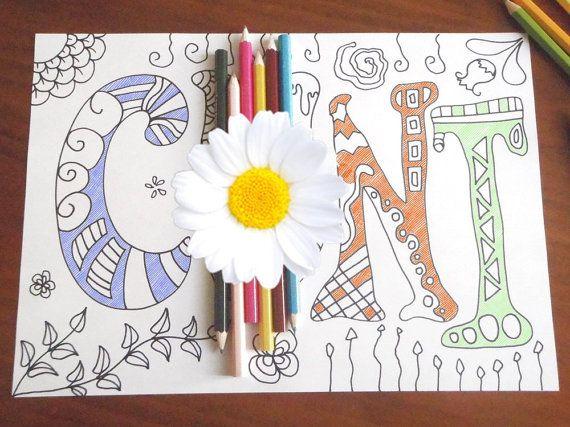 swear word coloring book adults sweary mature di LaSoffittaDiSte
